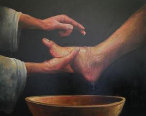 jesus-washing-the-feet-calvin-carter