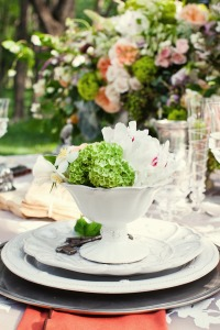place_setting_green_floral_fine_china_vintage